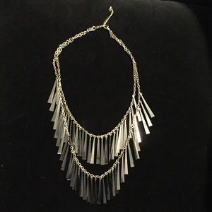 Beautiful Necklace - Gold & Grey/Silver